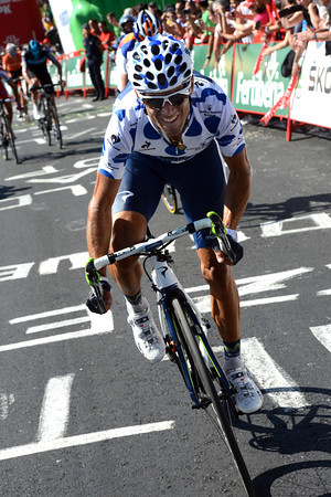 Valverde has pulled away from Froome but cannot close the gap to Contador and Rodriguez...