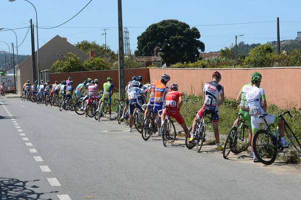 Aaagh, relief at last - the peloton has let an escape go, albeit after almost 80-kilometres of racing..!