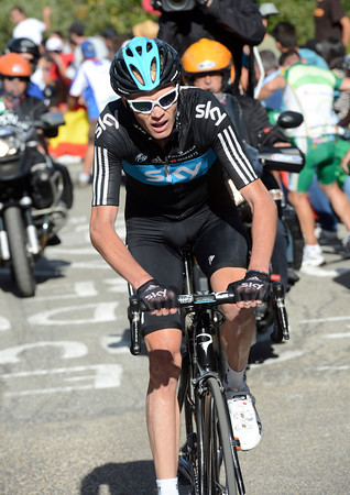 Froome has been left stranded by the attacks, but he's fighting on...