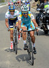 Piero Tiralongo has attacked with Contador with 23-kilometres to go..!