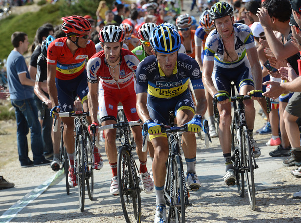 Rafal Majka leads Contador on to the final climb, but will the race-leader attack..?