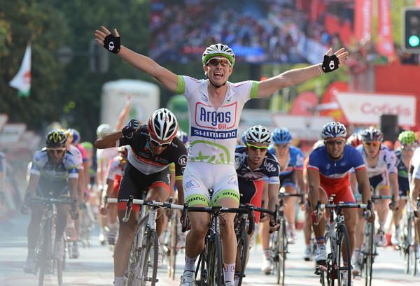 John Degenkolb wins stage five ahead of Daniele Bennati and Gianni Meersman...