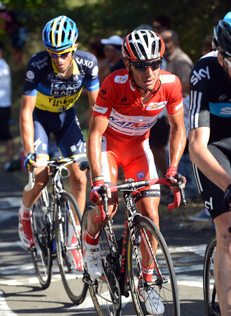 Joachim Rodriguez looks quite fresh as he contemplates this uphill finish...