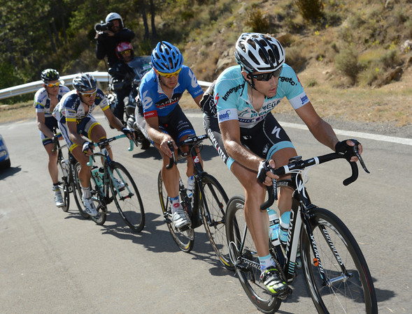 The escape has reached the first climb, after 145-kilometres, with Vanderwalle leading the way...