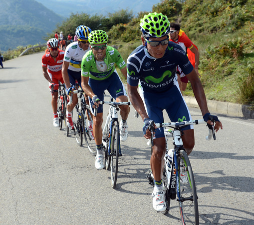 Quintana leads Valverde as the favourites try to put time into Chris Froome...