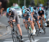 Chris Froome looked strong as he towed Sky to 5th place, 12-seconds down...