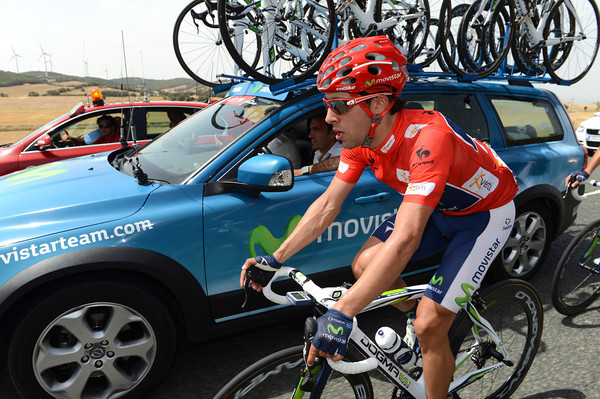 Is Jonathan Castroviejo confused - surely as race-leader he is not going to fetch water bottles..?!