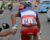 For some reason, FDJ's protected sprinter, Nacer Bouhanni, is carrying his own bottles as champion of France...