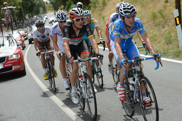 Carrasco now leads a nine-man escape including Philippe Gilbert and Markel Irizar...