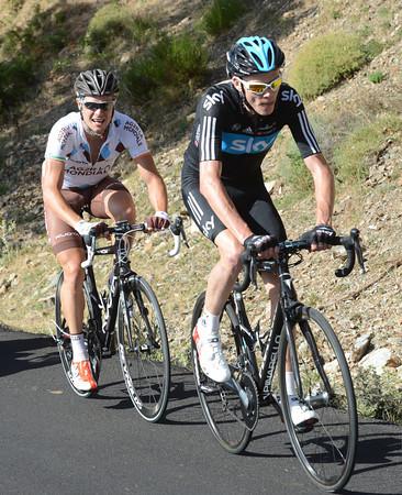 Chris Froome and Nicolas Roche are also bridging across to Contador...