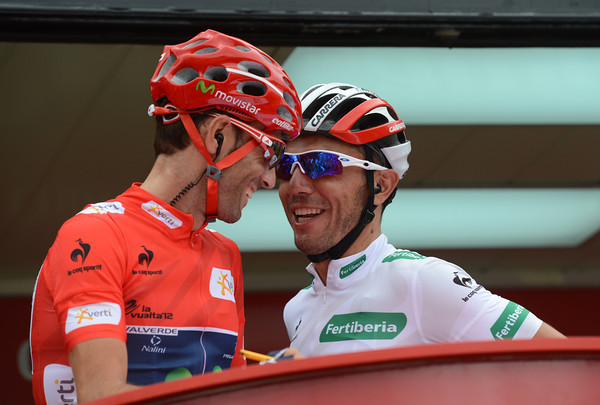 Alejandro Valverde and Joachim Rodriguez are still friends it seems, or are their smiles just for the cameras..?