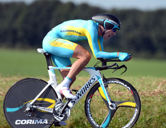 """Dmitri Gruzdev led the race for most of the afternoon, but then settled for 6th, 1' 57"""" down..."""