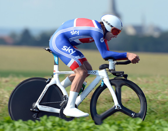 """Alex Dowsett took a fine 8th today, losing 2' 26"""" to the winner in his first-ever senior World Championship"""