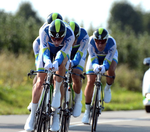 Orica Green Edge wanted more from today, but third at 47-seconds was not so bad...