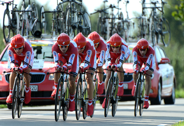 "Team Katusha were fast in 7th place - but they lost 1' 19"" today..."