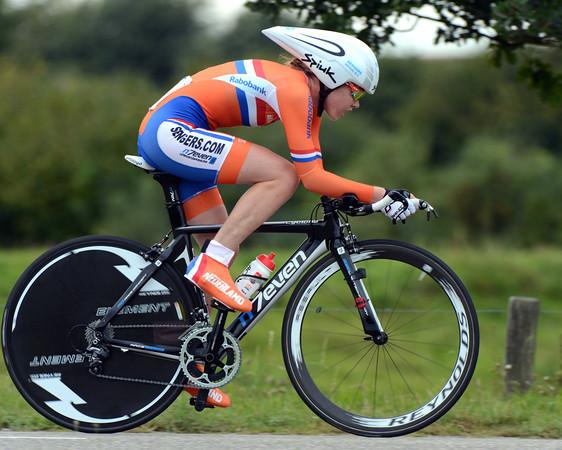 """Despite her sit-up style, Anne Van der Breggen took 11th, 2' 08"""" down..."""