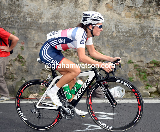 Armitstead has been dropped on this climb, her day is just about done...