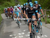 Team Sky are the ones chasing now, with Xavier Zandio showing the way ahead...
