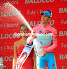Vincenzo Nibali celebrates another day as race-leader, without having to even break into sweat..!