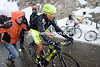 Stefano Garzelli is climbing the last mountain in the last Giro of his career - with a little help...