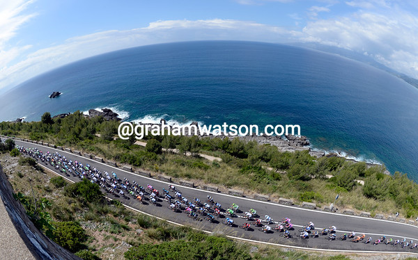 No Amalfi coast today, so the peloton will have to make do with this one instead...