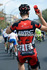 """One more for the road"" - Taylor Phinney gets into the swing of things for his BMC comrades..."