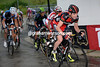 Cadel Evans responds, taking Caruso, Intxausti, Gesink and Nibali with him on this last ascent...