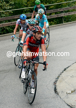 Greg Van Avermaet pulls too, the escape is still away but with just five riders now...