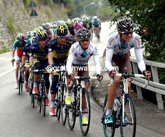 Ag2R is chasing too, they have Domenica Pozzovivo as their favourite today...