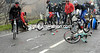 The single crash has caused a mass pile-up behind - about 20 riders are involved...