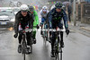 Lastras and Lars Bak are starting to feel the snow that's falling...