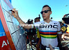 Philippe Gilbert signs on for the start of the Tour Down Under...