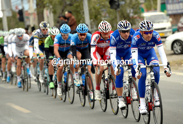 Jeremy Roy leads the FDJ train in pursuit, but surely it's not for Bouhanni today..?