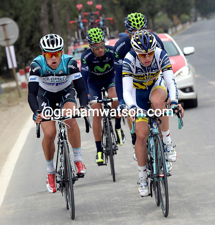 Four men have escaped over the wall - Lammertink leads Stybar, Gutierrez and Intxausti...