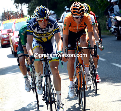 Lieuwe Westra takes another turn at the front of the escape - they'll end up staying away for over 190-kilometres..!