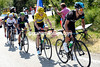Richie Porte is guding Froome up the climb after attacks by Contador have shredded the favourites...