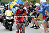 Van Garderen has launched himself ahead on the first ascent of Alpe d'Huez...there's a long way still to go..!