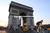 Team Sky are in control of the race as they lead Froome away from the Arc de Triomphe with five laps to go...