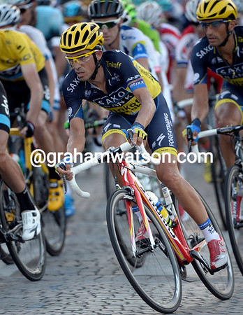 This has not been a great Tour for another 'star, Alberto Contador, but he still looks good on a bike, for sure..!