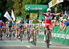 Alexander Kristoff wins the stage, having fought off Peter Sagan with ease..!