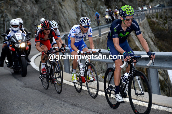Mollema has been superceded by Rui Costa, Van Garderene, and Pinot...but they've yet to catch Dombrowski...
