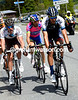 Reto Hollenstein leads an escape with Maxime Bouet...