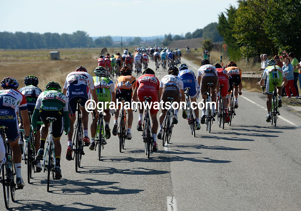 The crosswinds have split the peloton into many pieces - this is the turning-point of the day for many cyclists...