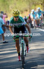 Amets Txurruka makes an attack as the race swings up the final climb with the escape over...