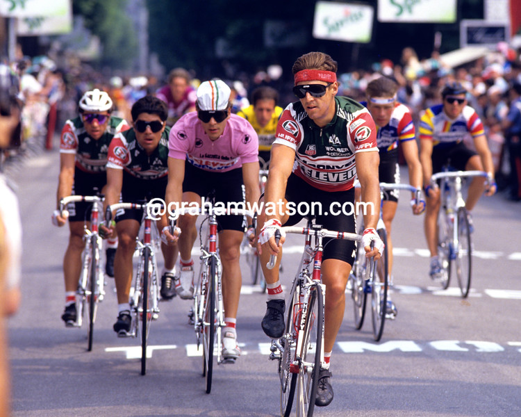 Davis Phinney and Andy Hampsten in the 1988 Giro d'Italia