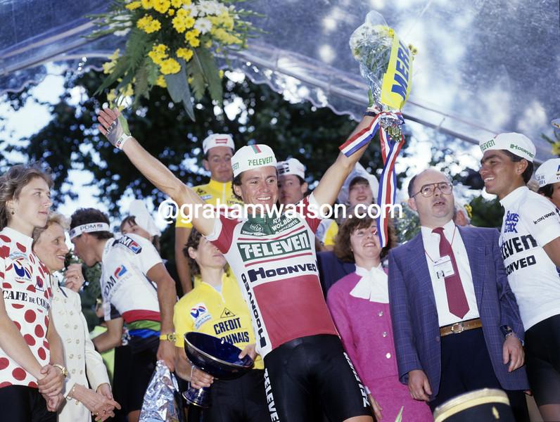 Jeff Pierce in the 1987 tour de france