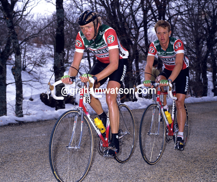 Ron Kiefel and Chris Carmichael in the 1988 Paris-Nice