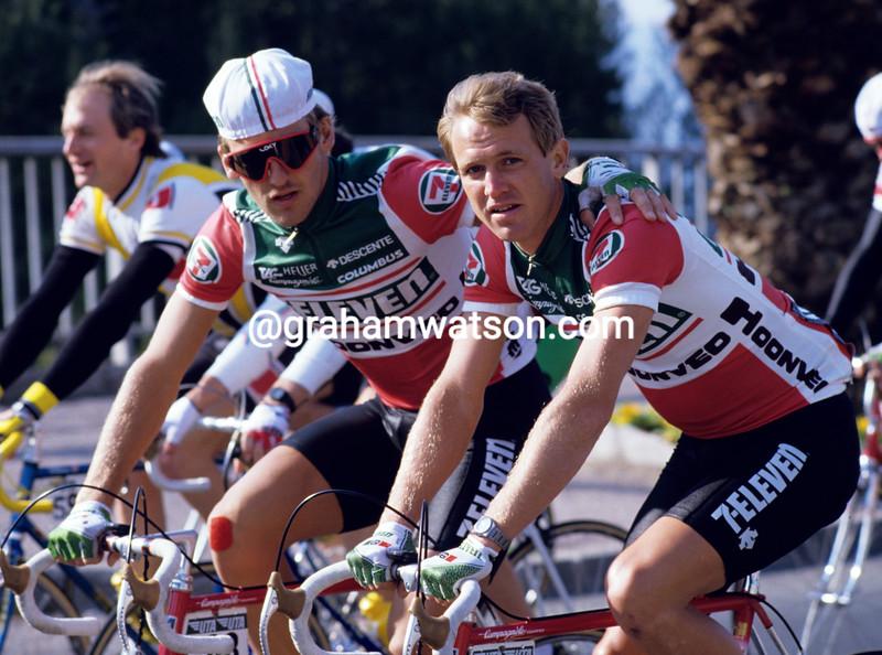 Chris Carmichael and Alex Stieda in 1987