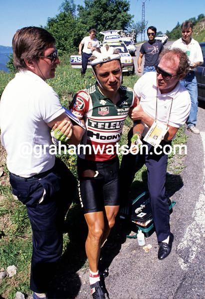 Jens Veggerby in the 1987 Tour de France
