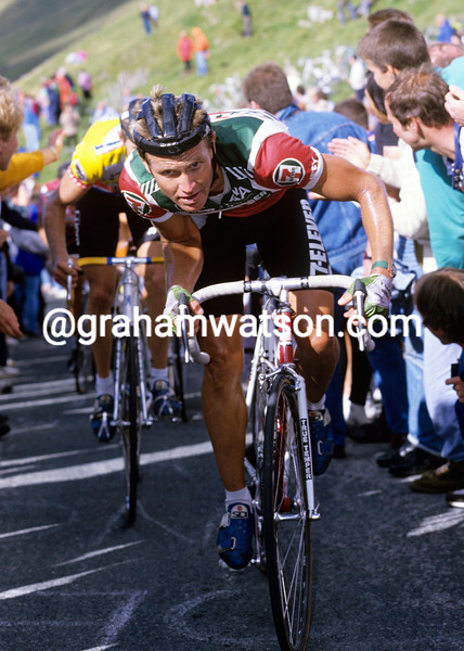 Chris Carmichael in the 1986 Kellogg's Tour of Britain